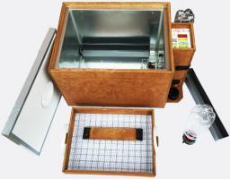 Инкубатор «БЛИЦ 48 Ц» на 48 яиц (автоматический переворот, цифровой терморегулятор, вентилятор, возможность подключения аккумулятора 12 Вольт)