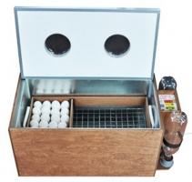Инкубатор «БЛИЦ 72-Ц» на 72 яйца (автоматический переворот, цифровой терморегулятор, вентилятор, возможность подключения аккумулятора 12 Вольт)