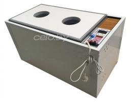 Инкубатор «БЛИЦ НОРМА ПАРКА С-8» на 120 яиц (автоматический переворот, цифровой терморегулятор, вентилятор, гигрометр, возможность подключения аккумулятора 12 Вольт)
