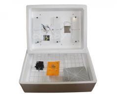 Инкубатор «Несушка 104-АГ+12В» на 104 яйца (автоматический переворот, аналоговый с цифровым дисплеем, гигрометр, возможность подключения к аккумулятору 12 Вольт)