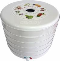 Сушилка для овощей и фруктов ЭСОФ-0,5/220 Ветерок-2 (5 поддонов, белый)