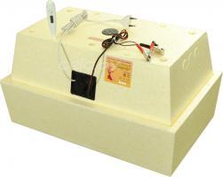 Инкубатор «Золушка Р-45+12В» на 45 яиц (ручной переворот, аналоговый терморегулятор, цифровой градусник, возможность подключения к аккумулятору 12 Вольт)