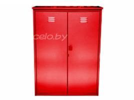 Шкаф на два газовых баллона (2х50 литров) красный оцинкованный